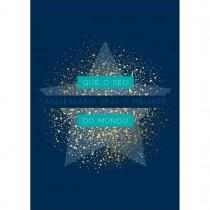 Cartão By Grafon's Aniversário Estampa Estrela Fundo Azul Marinho