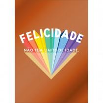 Imagem - Cartão By Grafon's Aniversário Estampa Felicidade Estilo Retrô