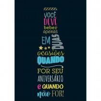 Imagem - CARTÃO BY GRAFON'S ANIVERSÁRIO ESTAMPA garrafa lettering