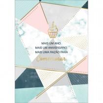 Imagem - Cartão By Grafon's Aniversário Estampa Mosaíco