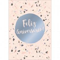 Imagem - Cartão By Grafon's Aniversário Tema Cacos Fundo Rosé