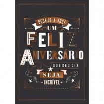 Imagem - Cartão By Grafon's Aniversário Tema Lettering