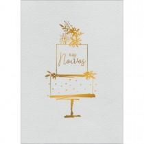 Imagem - Cartão By Grafon's Casamento Estampa Bolo Aos Noivos