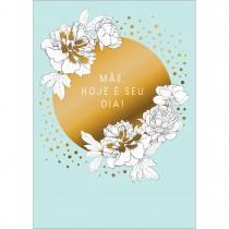 Imagem - Cartão By Grafon's Mães Estampa Flores Brancas