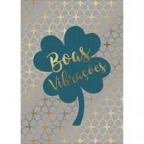 Imagem - Cartão By Grafon's Sem Texto Estampa Boas Vibrações