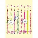 Imagem - Cartão Handmade Beauty Aniversário Estampa Velas faça um pedido - Grafon's
