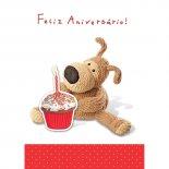 Imagem - Cartão Handmade Beauty Aniversário Estampa Urso Cupcake- Grafon's