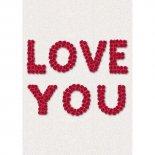 Imagem - Cartão Handmade Beauty Amor Estampa Love You- Grafon's