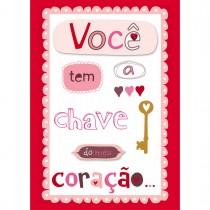 Imagem - Cartão Handmade Beauty Amor Estampa Chave do meu coração - Grafon's