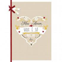 Imagem - Cartão Handmade Beauty Amor Estampa Coração Apaixonado - Grafon's