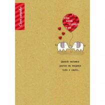 Imagem - Cartão Handmade Beauty Amor Estampa Elefante- Grafon's