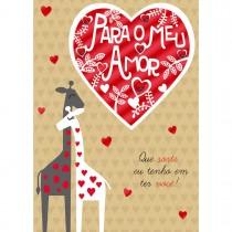 Imagem - Cartão Handmade Beauty Amor Estampa Girafas- Grafon's