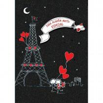 Cartão Handmade Beauty Amor Estampa Torre Eiffel - Grafon's