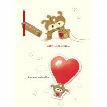 Cartão Handmade Beauty Amor Estampa Ursos no Balão- Grafon's