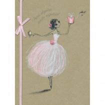 Imagem - Cartão Handmade Beauty Aniversário Estampa Bailarina- Grafon's