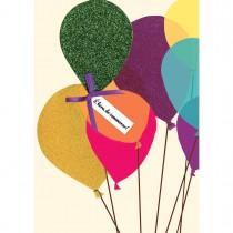 Imagem - Cartão Handmade Beauty Aniversário Estampa Balões de Giltter - Grafon's