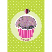 Imagem - Cartão Handmade Beauty Aniversário Estampa Cupcake- Grafon's
