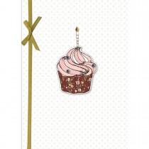 Imagem - Cartão Handmade Beauty  Aniversário Estampa Cupcake Vela - Grafon's