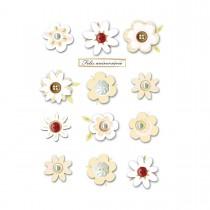 Imagem - Cartão Handmade Beauty Aniversário Estampa Flores e botões - Grafon's