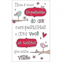 Imagem - Cartão Handmade Beauty Aniversário Estampa Pássarros - Grafon's