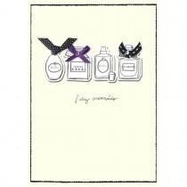 Imagem - Cartão Handmade Beauty Aniversário Estampa Perfumes - Grafon's