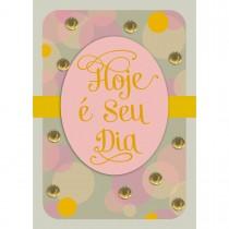 Imagem - Cartão Handmade Beauty Aniversário Estampa Poá Dourado- Grafon's