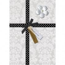 Imagem - Cartão Handmade Beauty Aniversário Estampa Presente laço poá - Grafon's