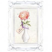Imagem - Cartão Handmade Beauty Aniversário Estampa Vaso de Flor - Grafon's
