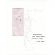 Imagem - Cartão Handmade Beauty Casamento Estampa Aos Noivos como o vinho - Grafon's