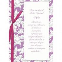Imagem - Cartão Handmade Beauty Casamento Estampa Casal Especial flores- Grafon's
