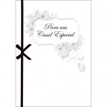Imagem - Cartão Handmade Beauty Casamento Estampa Casal Especial Prata- Grafon's