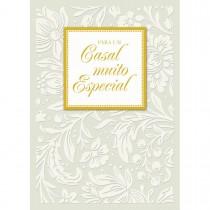 Imagem - Cartão Handmade Beauty Casamento Estampa Casal Muito Especial- Grafon's