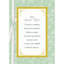 Imagem - Cartão Handmade Beauty Casamento Estampa Sinceros Votos- Grafon's