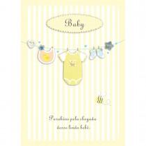 Imagem - Cartão Handmade Beauty Nascimento Estampa Varal de roupas Baby - Grafon's