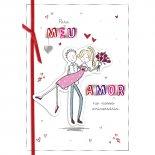 Imagem - Cartão Handmade Beauty Amor Estampa Casal Buquê - Grafon's