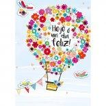 Imagem - Cartão Handmade Beauty Aniversário Estampa Balão de Flores- Grafon's