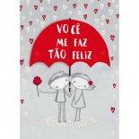 Imagem - Cartão Handmade Beauty Amor Estampa Guarda-chuva - Grafon's