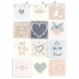 Imagem - Cartão Handmade Beauty Amor Estampa Quadrinhos de amor- Grafon's