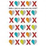Imagem - Cartão Handmade Beauty Amor Estampa XOXO- Grafon's