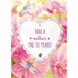 Imagem - Cartão Handmade Beauty Mães Estampa Coração melhor mãe - Grafon's
