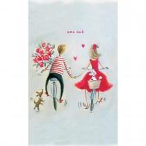 Imagem - Cartão Magic Moments Amor Estampa Casal bicicleta -Grafon's