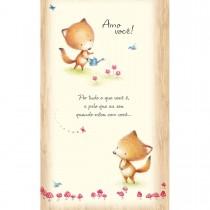 Imagem - Cartão Magic Moments Amor Estampa Raposas jardim - Grafon's