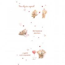 Cartão Magic Moments Amor Estampa Ursinhos casal - Grafon's