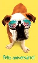 Imagem - Cartão Magic Moments Aniversário Estampa Cachorro óculos  - Grafon's