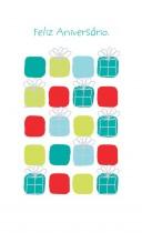 Imagem - Cartão Magic Moments Aniversário Estampa Presentes coloridos - Grafon's