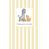 Imagem - Cartão Magic Moments Nascimento Estampa Girrafa listras - Grafon's