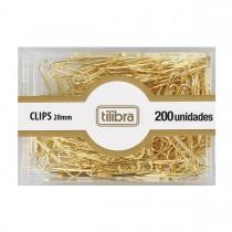 Imagem - Clips 28mm Dourado 200 Unidades