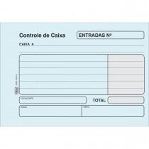 Imagem - Controle de Caixa Entrada Azul - 100 Folhas (Pacote com 20 unidades)