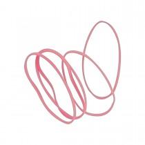 Imagem - Elástico Colorido Rosa Claro - Bag com 50 Unidades