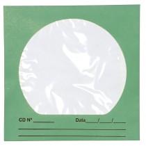 Envelope para CD/DVD Verde 125x125mm - Caixa com 100 Unidades